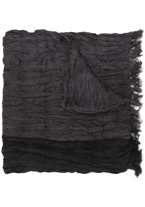 Issey Miyake crease pleated scarf - Black