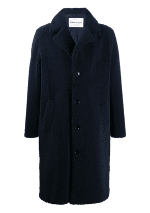 STAND STUDIO teddy single breasted coat - Blue