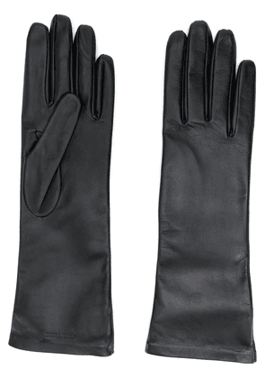 Saint Laurent logo-debossed 5-finger gloves - Black