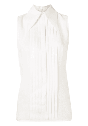 Andrew Gn pleated silk blouse - White