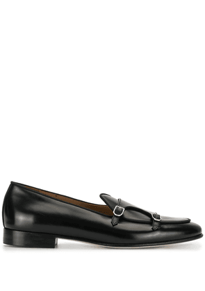 Edhen Milano double monk strap loafers - Black