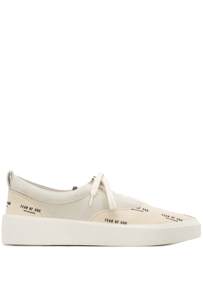 Fear Of God all over logo print sneakers - Neutrals