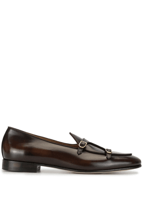 Edhen Milano double-strap loafers - Brown