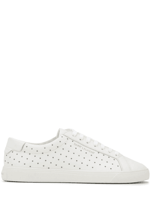 Saint Laurent Andy studded sneakers - White