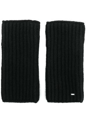 Saint Laurent fingerless knitted gloves - Black