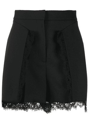 Alexander McQueen lace-trimmed shorts - Black