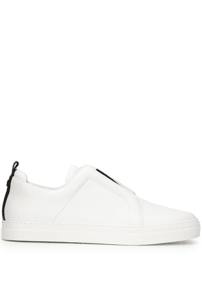 Pierre Hardy laceless low-top sneakers - White