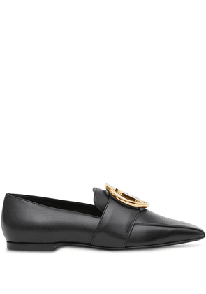 Burberry monogram motif leather loafers - Black