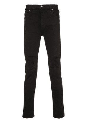 Christian Dada distressed slim-fit jeans - Black