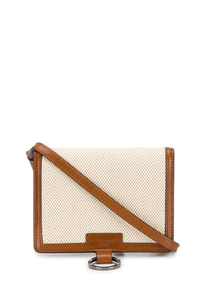 Dolce & Gabbana contrast trims crossbody bag - Neutrals