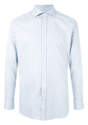 Gieves & Hawkes striped button-up shirt - Blue