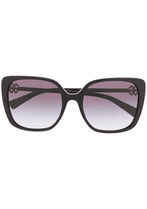 Bvlgari square frame sunglasses - Black