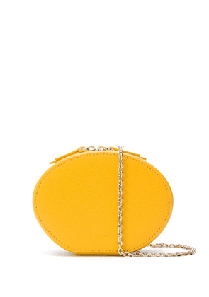 Cafuné Egg textured leather clutch - Yellow