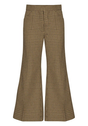 Moncler 2 Moncler 1952 cropped flared trousers - Brown