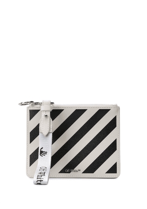Off-White diagonal leather clutch