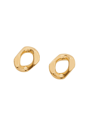 Burberry small chain-link earrings - GOLD