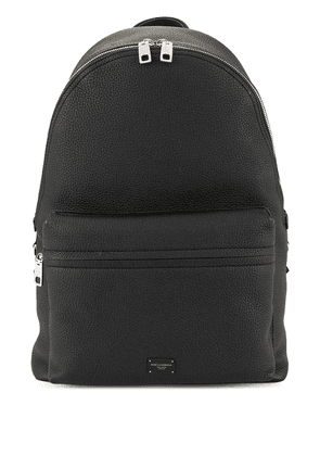 Dolce & Gabbana logo plaque backpack - Black