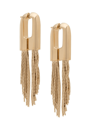 Givenchy chain pendant hoop earrings - GOLD
