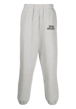 IRO Grunge University cropped tracksuit bottoms - Grey