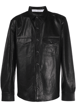 IRO long sleeve leather shirt - Black