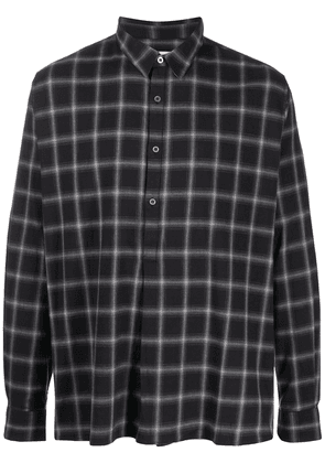 IRO plaid long sleeve shirt - Black