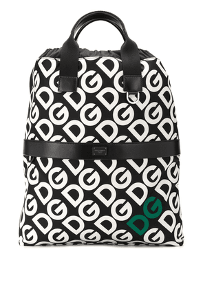 Dolce & Gabbana DG logo drawstring backpack - Black