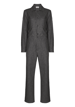 Moncler long-sleeve wool jumpsuit - Grey