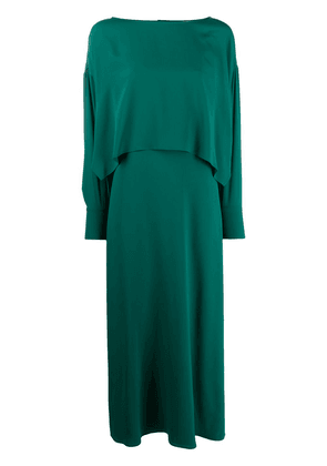 Erika Cavallini layered-look maxi dress - Green