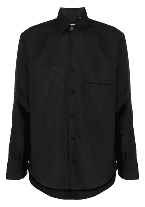 Costumein buttoned wool shirt - Black