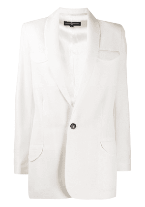 Edward Crutchley single-breasted wool blazer - White