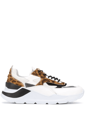 D.A.T.E. animal-print low-top sneakers - White