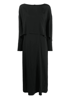 Erika Cavallini layered-look maxi dress - Black