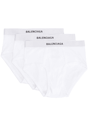 Balenciaga 3-set logo-waistband briefs - White