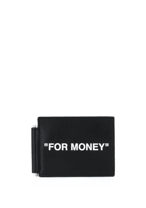 Off-White slogan-print note-holder - Black