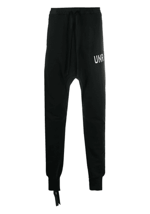 UNRAVEL PROJECT drop-crotch track pants - Black