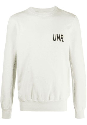 UNRAVEL PROJECT logo print sweatshirt - Neutrals