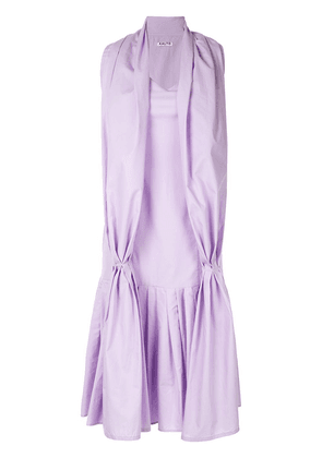 Aalto dress with scarf detail - PURPLE