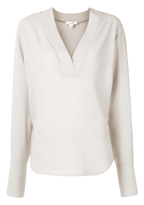 Beaufille V-neck long-sleeved blouse - Grey