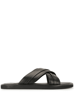 Malone Souliers cross strap sandals - Black