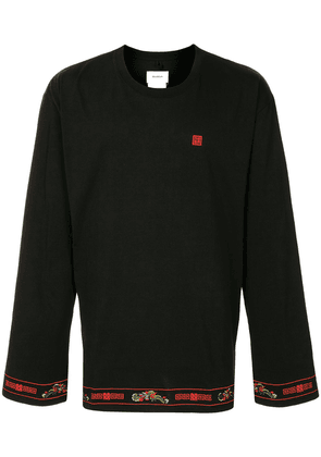Doublet embroidered oversized cotton T-shirt - Black