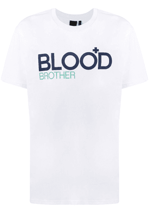 Blood Brother Trademark logo T-Shirt - White