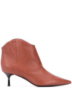 AGL pointed ankle boots - Red
