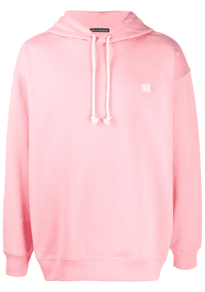 Acne Studios face-patch oversized hoodie - Pink