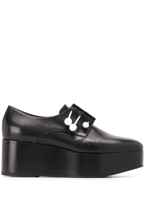 Coliac platform loafers with pearl detail - Black