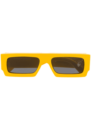 Off-White arrow logo sunglasses - Yellow