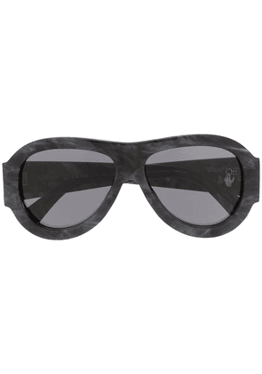 Off-White oversized pilot sunglasses - Grey