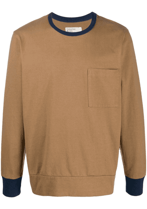 Universal Works contrast trim jumper - Brown
