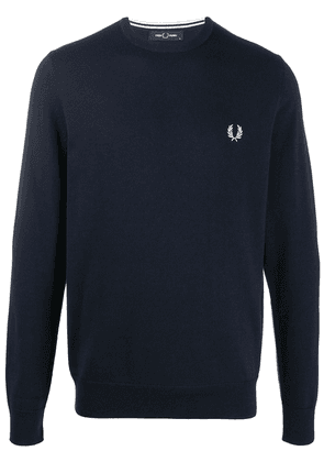 Fred Perry embroidered logo sweatshirt - Blue