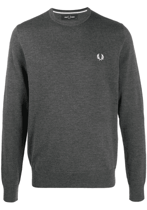 Fred Perry embroidered logo sweatshirt - Grey