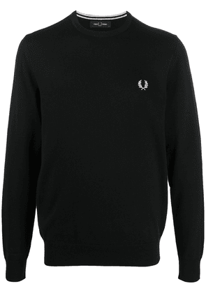 Fred Perry embroidered logo sweatshirt - Black